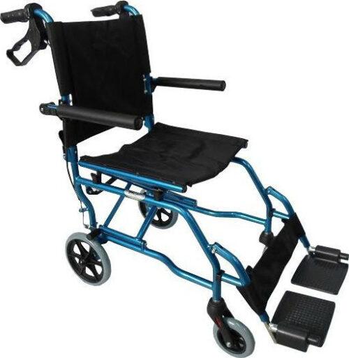 Αναπηρικό αμαξίδιο μεταφοράς αλουμινίου πτυσσόμενο με τσάντα 0808377