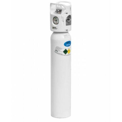 Φορητή φιάλη οξυγόνου 2 λίτρων με ροόμετρο Combilite