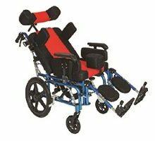 Παιδικό αναπηρικό αμαξίδιο αλουμινίου τετραπληγίας 0808505-1208