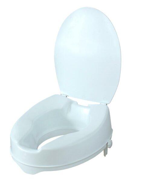 Ανυψωτικό κάθισμα τουαλέτας 10cm με καπάκι-0