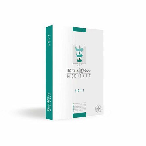 Θεραπευτικές κάλτσες ριζομηρίου διαβαθμισμένης συμπίεσης Class ΙI RELAXSAN Soft (κλειστά δάχτυλα)-1042