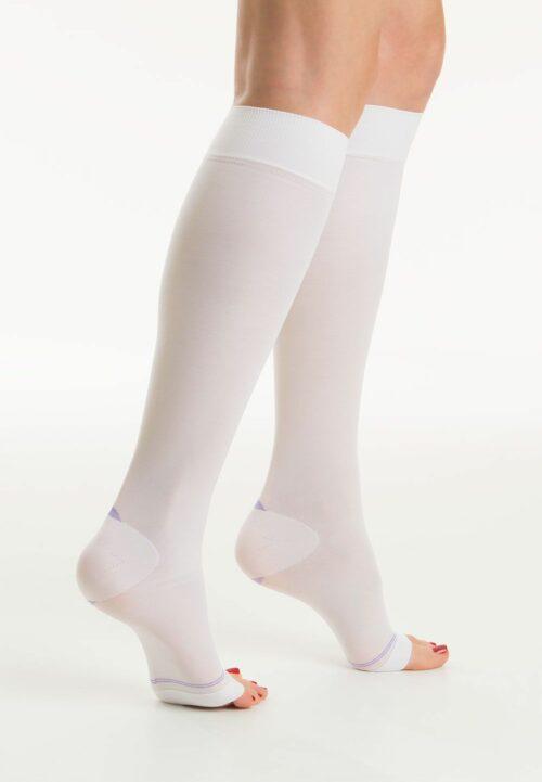Κάλτσες κάτω γόνατος αντιθρομβωτικές - μετεγχειρητικές Class I λευκές RelaxSan-0