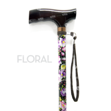 Μπαστούνι αλουμινίου ρυθμιζόμενο σε όψη floral