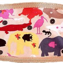 Μάσκα παιδική υφασμάτινη για παιδιά 3-7 ετών ροζ με ζώακια