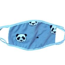 Μάσκα παιδική υφασμάτινη για παιδιά 5-12 ετών γκρι με Panda