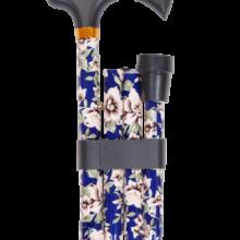 Μπαστούνι Σπαστό Αλουμινίου μπλε με λουλούδια - 0809260