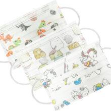 Παιδικές μάσκες μιας χρήσης 3-ply με διάφορα σχέδια συσκευασία 50τμχ